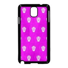 Skull Pattern Hot Pink Samsung Galaxy Note 3 Neo Hardshell Case (black) by MoreColorsinLife