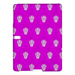 Skull Pattern Hot Pink Samsung Galaxy Tab S (10 5 ) Hardshell Case  by MoreColorsinLife