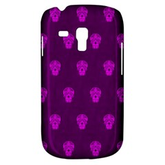 Skull Pattern Purple Samsung Galaxy S3 Mini I8190 Hardshell Case by MoreColorsinLife
