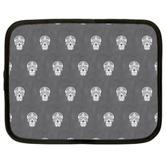 Skull Pattern Silver Netbook Case (xl)  by MoreColorsinLife