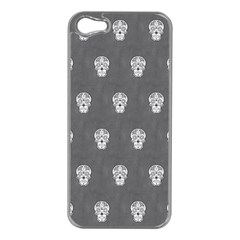Skull Pattern Silver Apple Iphone 5 Case (silver) by MoreColorsinLife