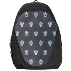 Skull Pattern Silver Backpack Bag by MoreColorsinLife