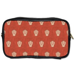 Skull Pattern Terra Toiletries Bags 2 Side by MoreColorsinLife