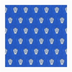 Skull Pattern Inky Blue Medium Glasses Cloth (2 Side) by MoreColorsinLife