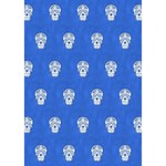Skull Pattern Inky Blue Clover 3D Greeting Card (7x5)  Inside