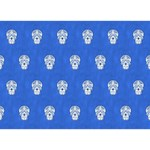 Skull Pattern Inky Blue Clover 3D Greeting Card (7x5)  Back