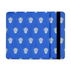 Skull Pattern Inky Blue Samsung Galaxy Tab Pro 8 4  Flip Case by MoreColorsinLife