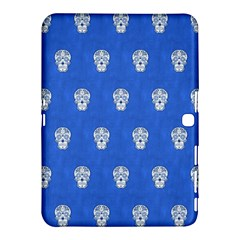 Skull Pattern Inky Blue Samsung Galaxy Tab 4 (10 1 ) Hardshell Case  by MoreColorsinLife