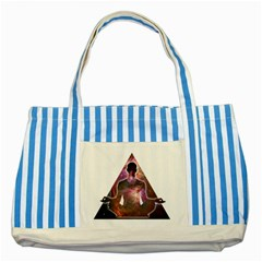 Deep Meditation #2 Striped Blue Tote Bag  by Lab80