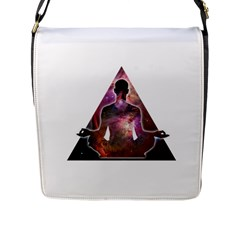 Deep Meditation #2 Flap Messenger Bag (l)  by Lab80