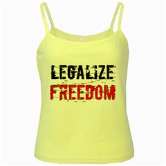 Legalize Freedom Yellow Spaghetti Tanks by Lab80