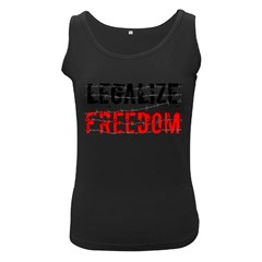 Legalize Freedom Women s Black Tank Tops by Lab80