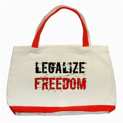 Legalize Freedom Classic Tote Bag (red)  by Lab80