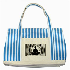 Break Free ! Striped Blue Tote Bag  by Lab80