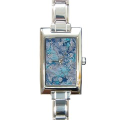 Marbled Lava Blue Rectangle Italian Charm Watches by MoreColorsinLife
