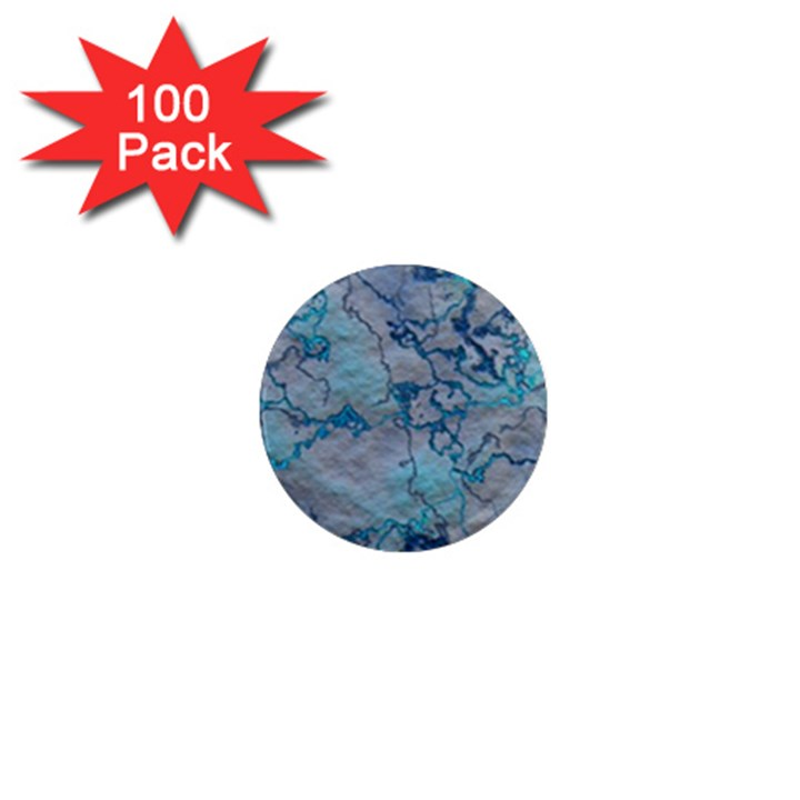 Marbled Lava Blue 1  Mini Magnets (100 pack)