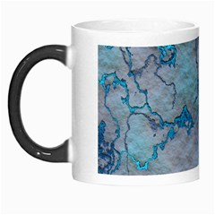 Marbled Lava Blue Morph Mugs by MoreColorsinLife