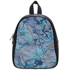 Marbled Lava Blue School Bags (small)  by MoreColorsinLife