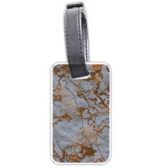 Marbled Lava Orange Luggage Tags (one Side)  by MoreColorsinLife