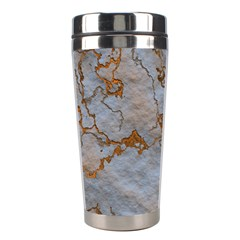 Marbled Lava Orange Stainless Steel Travel Tumblers by MoreColorsinLife