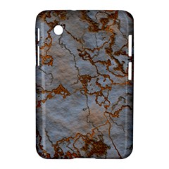 Marbled Lava Orange Samsung Galaxy Tab 2 (7 ) P3100 Hardshell Case  by MoreColorsinLife