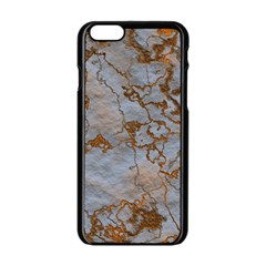 Marbled Lava Orange Apple Iphone 6 Black Enamel Case by MoreColorsinLife