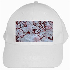 Marbled Lava Red White Cap by MoreColorsinLife