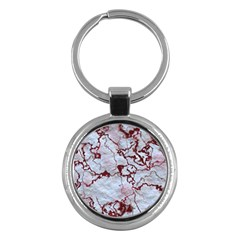 Marbled Lava Red Key Chains (round)  by MoreColorsinLife