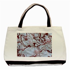 Marbled Lava Red Basic Tote Bag (two Sides)  by MoreColorsinLife