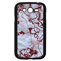 Marbled Lava Red Samsung Galaxy Grand Duos I9082 Case (black) by MoreColorsinLife