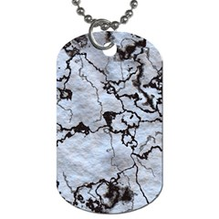 Marbled Lava White Black Dog Tag (two Sides) by MoreColorsinLife