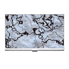 Marbled Lava White Black Business Card Holders by MoreColorsinLife