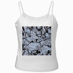 Marbled Lava White Black Ladies Camisoles by MoreColorsinLife