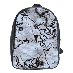 Marbled Lava White Black School Bags (xl)  by MoreColorsinLife