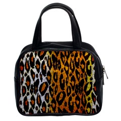 Cheetah Abstract Pattern  Classic Handbags (2 Sides) by OCDesignss