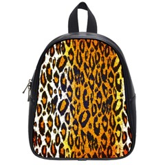 Cheetah Abstract Pattern  School Bags (small)