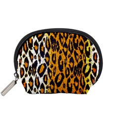 Cheetah Abstract Pattern  Accessory Pouches (small)