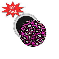 Pink Black Cheetah Abstract  1 75  Magnets (100 Pack)  by OCDesignss