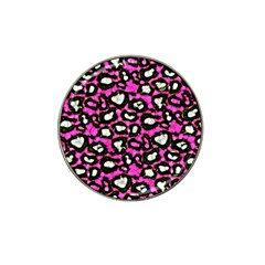 Pink Black Cheetah Abstract  Hat Clip Ball Marker (10 Pack) by OCDesignss