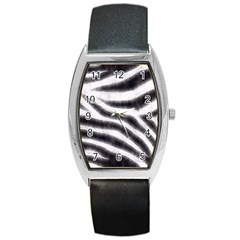 Black&white Zebra Abstract Pattern  Barrel Metal Watches by OCDesignss