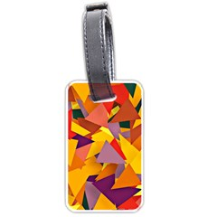 Geo Fun 8 Colorful Luggage Tags (one Side)  by MoreColorsinLife