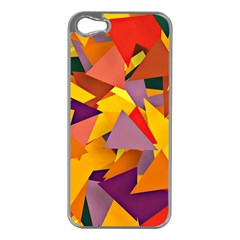 Geo Fun 8 Colorful Apple Iphone 5 Case (silver) by MoreColorsinLife