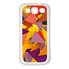 Geo Fun 8 Colorful Samsung Galaxy S3 Back Case (white) by MoreColorsinLife