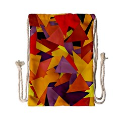 Geo Fun 8 Colorful Drawstring Bag (small) by MoreColorsinLife