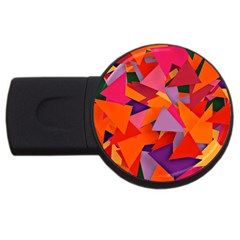 Geo Fun 8 Hot Colors Usb Flash Drive Round (2 Gb)  by MoreColorsinLife