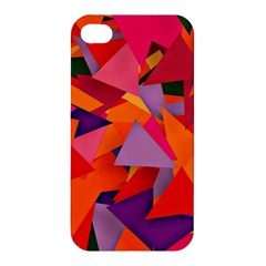 Geo Fun 8 Hot Colors Apple Iphone 4/4s Premium Hardshell Case by MoreColorsinLife