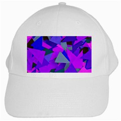 Geo Fun 8 Inky Blue White Cap by MoreColorsinLife
