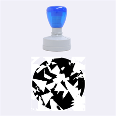 Geo Fun 8 Inky Blue Rubber Round Stamps (medium) by MoreColorsinLife
