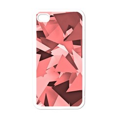 Geo Fun 8 Peach Apple Iphone 4 Case (white) by MoreColorsinLife