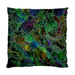 Lovely Allover Bubble Shapes Green Standard Cushion Case (one Side)  by MoreColorsinLife